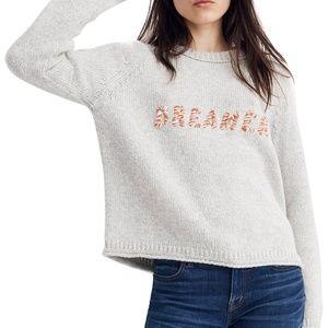 Madewell Dreamer Embroidered Keaton Sweater.
